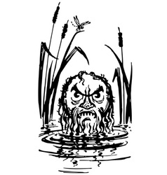 Water satyr vector