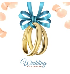 Wedding Realistic Background vector image vector image