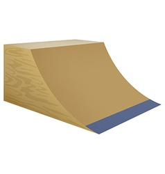 Wooden street ramp on white background vector image