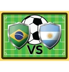 Brazil vs argentina sport game symbol vector