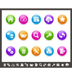 FTP and Hosting Icons Rainbow Series vector image