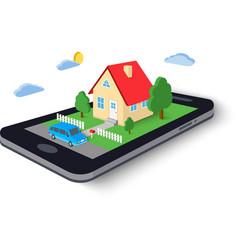 Remote home control concept icon vector