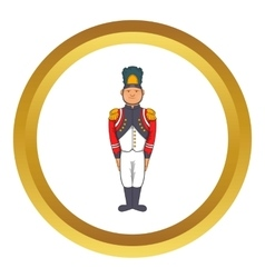 French army soldier in uniform icon vector