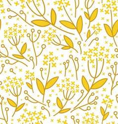 Florals on white background vector image