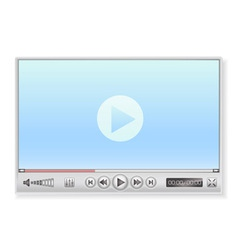 Media player in light colors vector