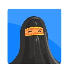 Woman In Niquab Famous Touristic Attraction Of vector image