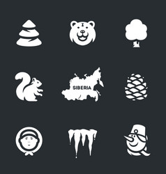 Set of siberia icons vector