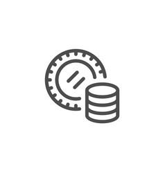 Gambling line icon vector
