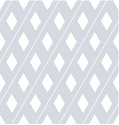 seamless diamonds and lines pattern vector image