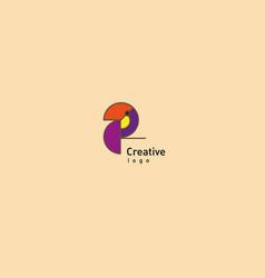 Creative geometric contour logo large toucan vector