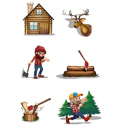 A life of a lumberjack vector