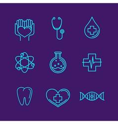 Medicine logos vector