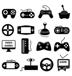Video games icons set vector