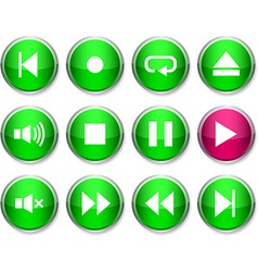 Player round icons vector