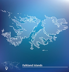 Map of falkland islands vector
