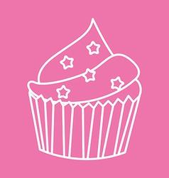 Sweet cupcake vector