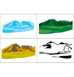 Selection of the landscapes with mountain vector
