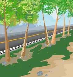 Road side scene vector