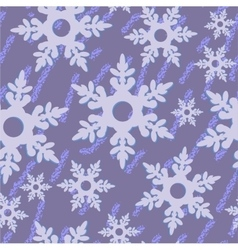 Seamless abstract snowflake grunge texture 535 vector