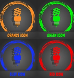 Fluorescent lamp icon fashionable modern style in vector