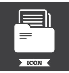 Document folder sign accounting binder symbol vector