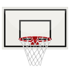 Basketball ring on white background vector