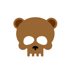 Bear skull isolated brown bears skeleton head vector