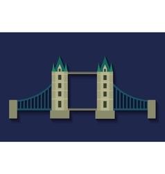 Bridge london england design vector
