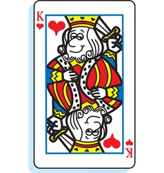 Cartoon King of Hearts vector image vector image