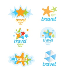Collection of logos for the travel and tourism vector image