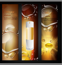 Cosmetic portrait banners vector