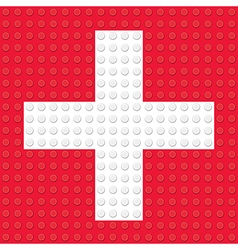 First Aid Symbol created from building toy bricks vector image vector image
