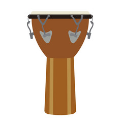 isolated leather drum vector image