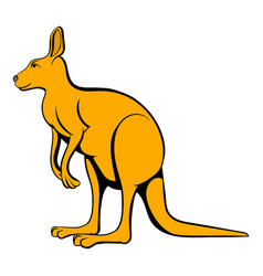 Kangaroo icon cartoon vector