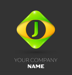 Letter j logo symbol in colorful rhombus vector