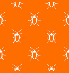 Longhorn beetle grammoptera pattern seamless vector
