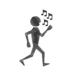 Man dancing icon design vector