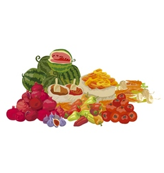 Market fresh food vector