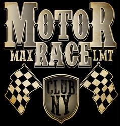 motor sports logo graphic design vector image