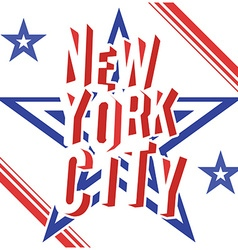 New york city retro vintage typography poster vector