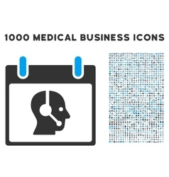 Operator calendar day icon with 1000 medical vector