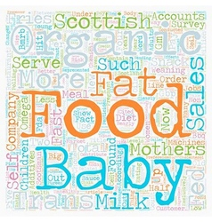 Organic baby food a big hit in scotland text vector