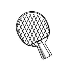 ping pong racket vector image vector image
