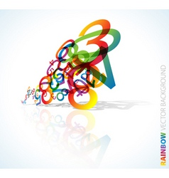 rainbow numbers vector image vector image