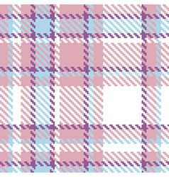 Seamless Plaid Fabric Pattern vector image vector image