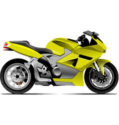 sketch of modern motorcycle vector image