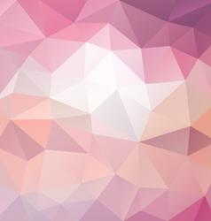 Sweet pastel pink polygon triangular pattern vector
