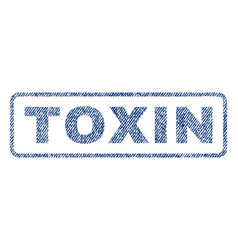 toxin textile stamp vector image vector image