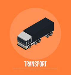 Transport concept with freight car vector