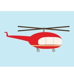 Vintage helicopter vector image vector image
